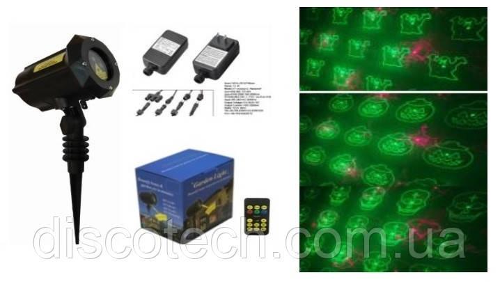 Лазер водонепроницаемый X-Laser X-34P-B3 RG moving laser 12 Halloween с ДУ