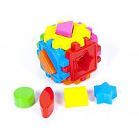 Куб - сортер с геометр.фигурами   KINDERWAY