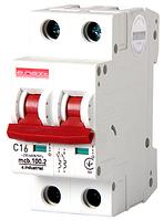 Модульный автоматический выключатель C16, 2 р, 16А, C, 10кА
