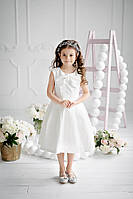 Белое праздничное платье-тюльпан для девочки