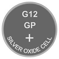 Батарейка часовая, серебро-цинк, Silver oxide G12 (386, SR43, SR43W) GP 1.55V
