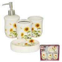 Набор аксессуаров для ванной комнаты (керамика) Подсолнух SNT 888-06-010