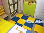 Детский коврик пазл 48х48х1см (сине-желтый), фото 5