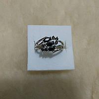 Серебряное кольцо 925пр 17р. Черная шпинель защита от магии