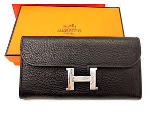 Женский кошелек Hermes (H-567) black SR-749