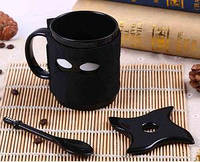 Чашка керамическая с подставкой, повязкой и ложечкой 380 мл Ниньзя top-255