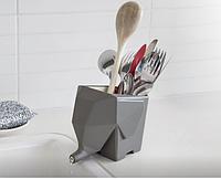 Подставка (сушилка) для кухонных принадлежностей Слон Серый top-269