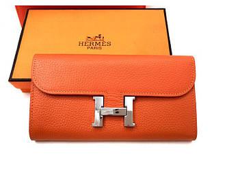Женский кошелек Hermes (H-567) orange SR-753