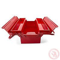 Ящик для инструментов металлический 450 мм, 3 секции INTERTOOL HT-5043