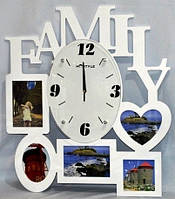 "Настенные часы-фоторамка ""Семья"" 44-1"