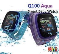 Q100 Aqua Детские Умные Часы с GPS водонепроницаемые (DF25)