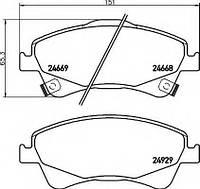 Оригинал передние тормозные колодки TOYOTA AVENSIS T27 09-