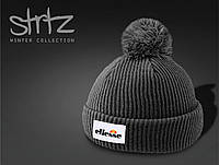 Модная зимняя шапка с помпоном/бубоном ellesse