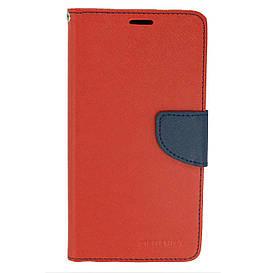 Чехол книжка для Meizu M6 Note боковой с отсеком для визиток, Mercury GOOSPERY, Красный