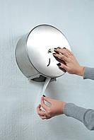 Диспенсер для туалетной бумаги из нерж. стали, диаметром 27см