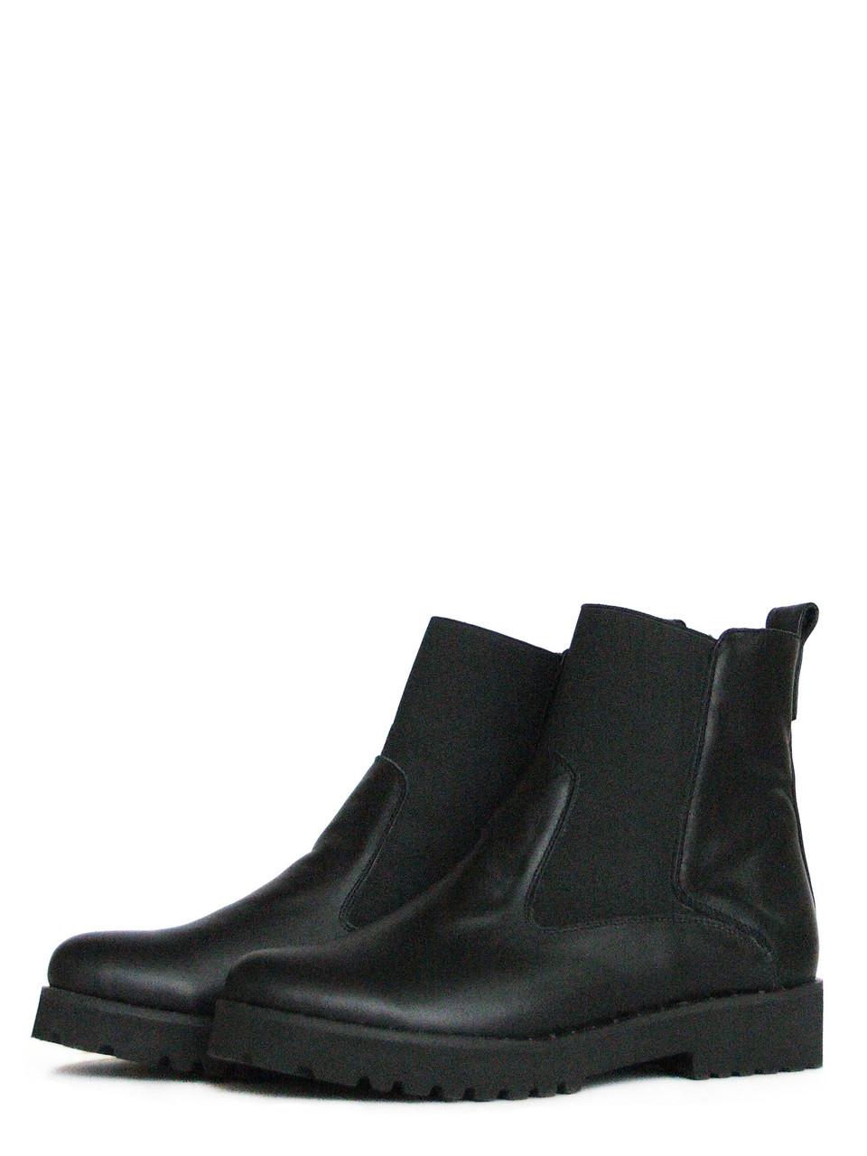 Низкие черные ботинки из натуральной кожи