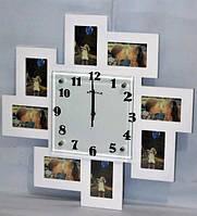 Настенные часы-мультирамка (коллаж) на 8 фотографий 44-2