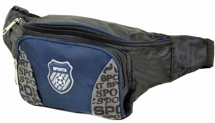 Зручна сумка на пояс 09 blue Синій