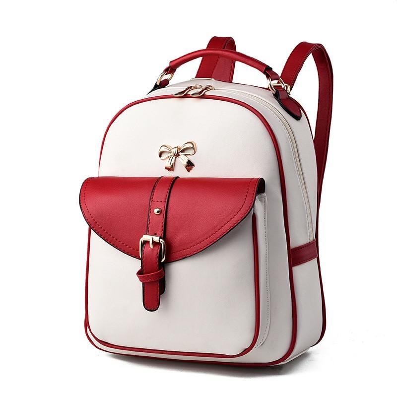 Рюкзак городской женский Blaire milk-red