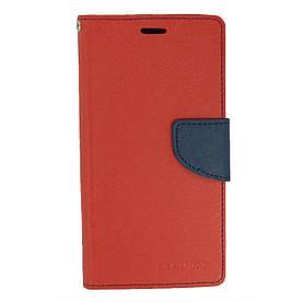 Чехол книжка для Meizu M6 боковой с отсеком для визиток, Mercury GOOSPERY, Красный