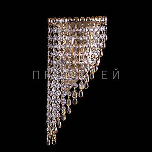 Хрустальная бра на 2 лампочки (золото). P5-B0134/2W/FG