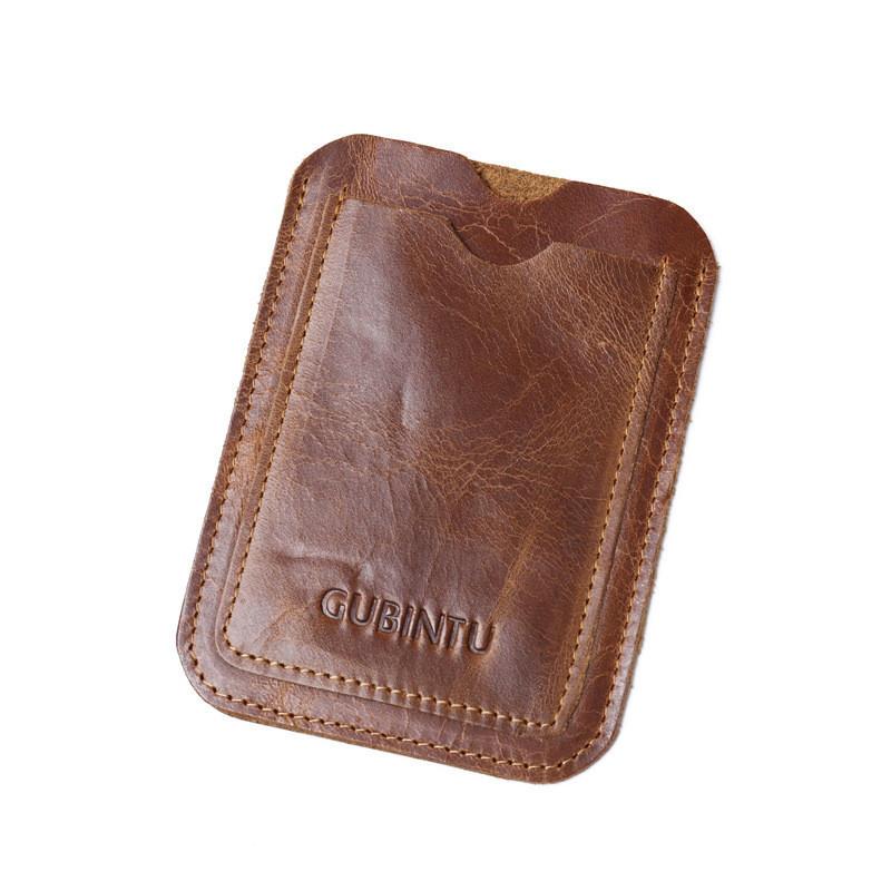 Кард-кейс кредитница кошелек Gubintu Slim brown