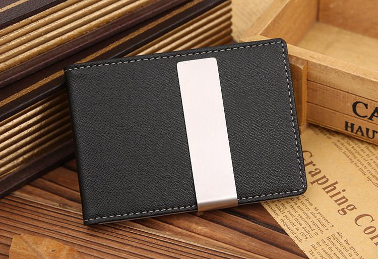 Кредитница с зажимом для денег Shield black-gray