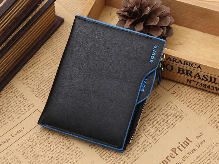 Кошелек бумажник мужской Bovis Sport black-blue