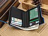 Кошелек бумажник мужской Bovis Sport black-blue, фото 6
