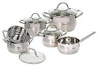 Набор посуды индукционной (10 пр.) Bergner BG-6529