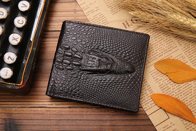 Кошелек бумажник мужской Crocodile dark brown