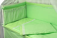 Защитное ограждение для детской кроватки Руно 922КУ Карапуз салатовое