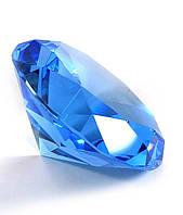 Кристалл хрустальный синий (12см)
