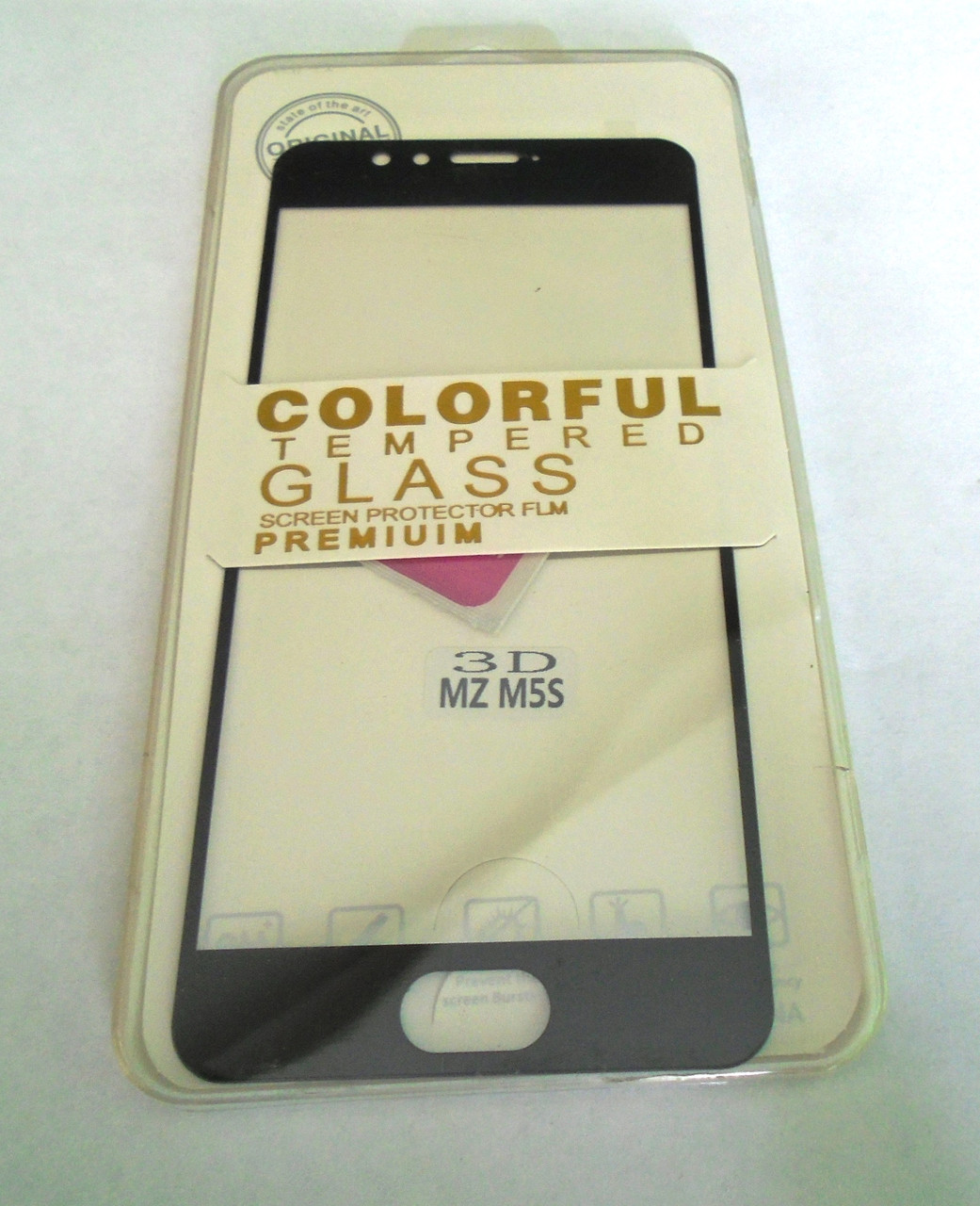 Защитное стекло Meizu m5s Black 3D full Screen