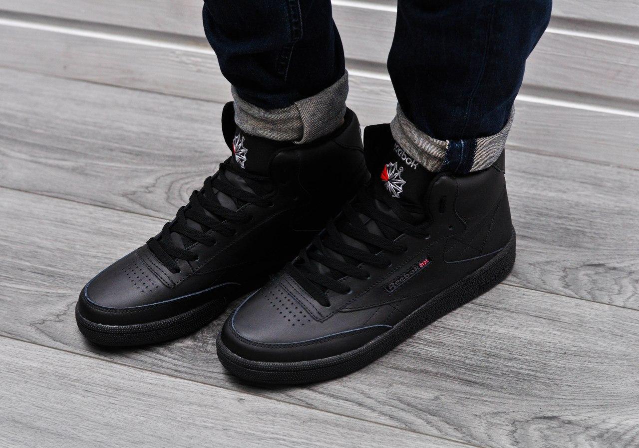 d9c6c98b Мужские кроссовки Reebok Classic High Black 45 размера - Компания