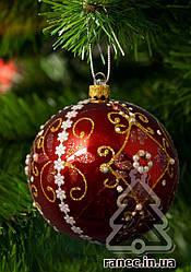 Стеклянный шар на елку Ромб