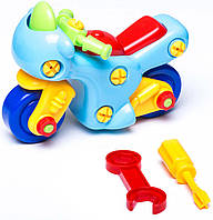 Детская игрушка-конструктор Мотоцикл (укр. упаковка), BeBeLino