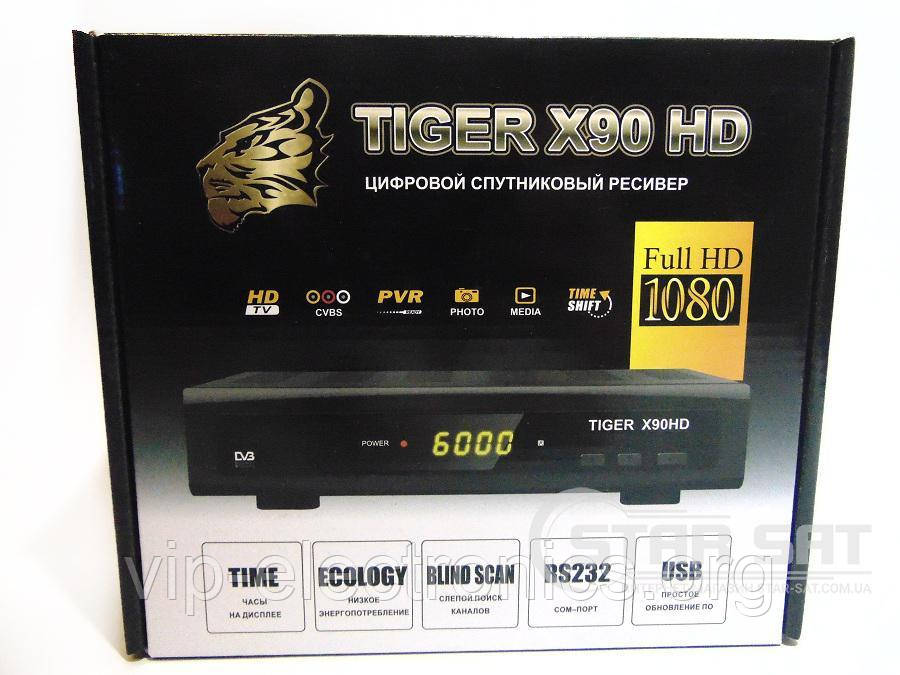Тюнер Tiger X90 HD TV CVBS PVR  RS232(сом порт) USB часы