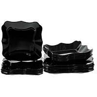 Столовый сервиз на 6 персон (18 предметов) Luminarc Authentic Black E5251