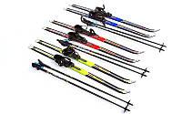 Лыжи беговые в комплекте с палками ZEL SK-1883-100А