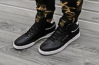 Мужские кроссовки Reebok Classic High Black and White