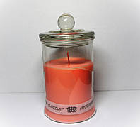 Арома свеча в банке интерьерная ЭКО  с легким ароматом Ванили(Абсолют) 330гр Д=8см Н=12см
