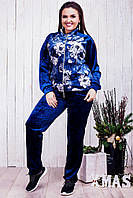 Женский велюровый спортивный костюм (46-60) 8208