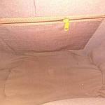 Сумка велика з італійської соломки ручна робота мереживо, стрази 65см*36см на підкладці, фото 7