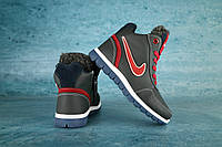 Детские зимние кроссовки Nike Синий\Красный 10538