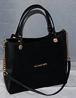 Женская замшевая сумка Mi-hael Kor$, цвет черный в стиле Майкл Корс MK