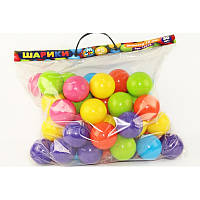 Шарики для сухого бассейна 70 мм мягкие 50 шт.  в сумке   M- toys