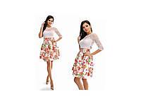 Коктейльное платье цветы