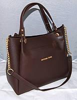 Женская сумка Michael Kors, цвет коричневый Майкл Корс MK, фото 1
