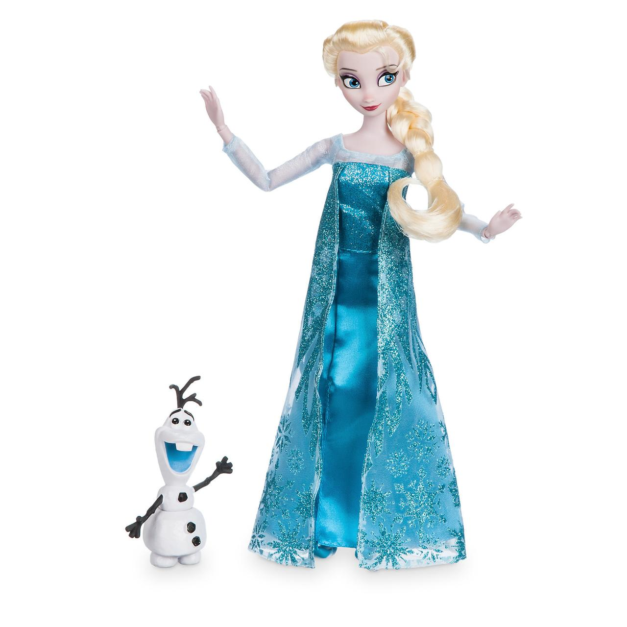 Disney Классическая кукла Принцесса Эльза с снеговиком Олафом - Холодн